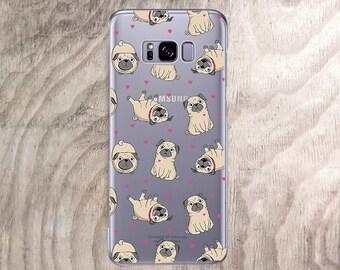 Case for Samsung Galaxy S8plus,s8 case Cute Pugs Samsung Galaxy s7,s7 active,s7 edge,s6,s6 edge,s6 active,s6 edge plus s9 plus Note 5,Note 7