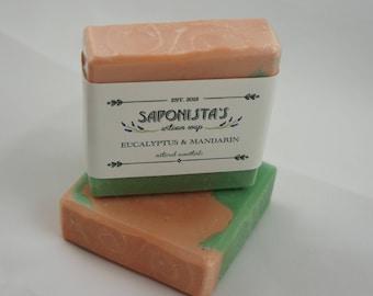 Eucalyptus and Mandarin Cold Process Soap Bar