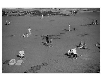 Black & White Photography, Seaside, Print, Wall Art, Beach, Scarborough, Retro, Fine Art