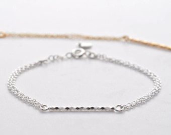 Wee Bar Bracelet - Thin Bar Bracelet - Delicate Dainty Bracelet - Minimalist Bracelet - Layering Bracelets - Gold Bar - Stacking Bracelet