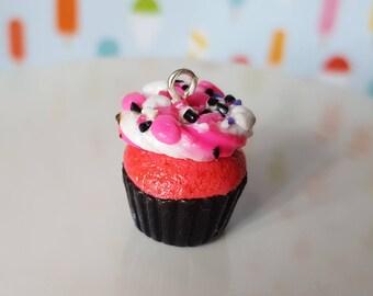 Cupcake polymer clay charm