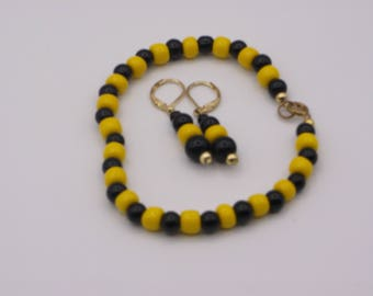 Bumble Bee Bracelet and Earring Set