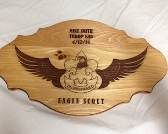 Scout Eagle Award Laser Engraved Plaque #5
