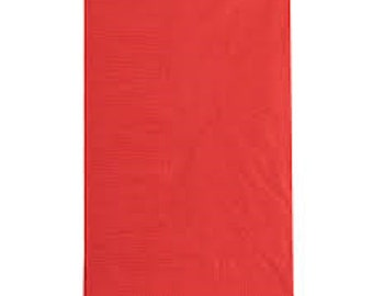 """125 Pack Red Disposable Dinner Napkins-Bulk Party Supply 2PLY (15"""" X 17"""")"""