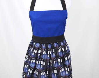 Doctor Who Tardis Print Full Apron