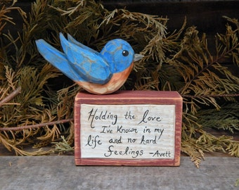 Bluebird Song Block (Avett Brothers)