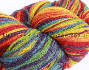 KAUNI Estonian Artistic Yarn Rainbow 8/2, Art Wool  Yarn for Knitting, Crochet