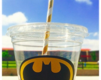 12 oz disposable batman party cups