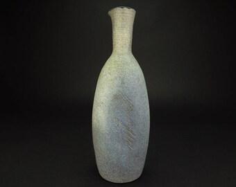 Vintage MCM Ceramic Vase With Incised Detail Designed By James Crumrine Signed Circa 1970's