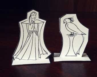 Princess Anwyn and Angelwing - Flygin Paper Gliders