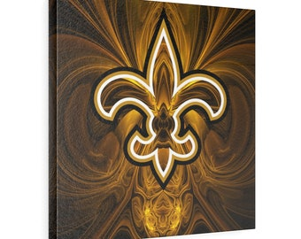New Orleans Saints Square Leather Gallery Wraps