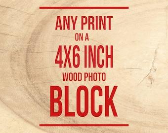 Wood Mounted Prints, Photograph on Blocks, Ready to Hang, Wall Art - Birch Wood, Hand mounted Photography, Personalized Decor, Photo Block