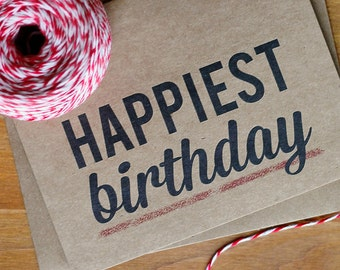 Birthday Card Set of 10 - Happiest Birthday Cards