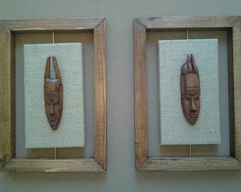 Wall art african warrior 3D
