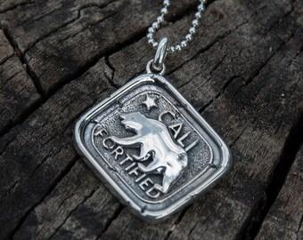 Califortified, Californian Talisman, Sterling Silver