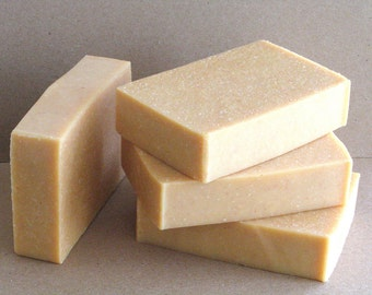Salt Bar Soap Salty Citrus Spa Handmade Soap with Goat Milk - Natural Soap Scented with Citrus Essential Oils - Added Sea Salt - Spa Quality