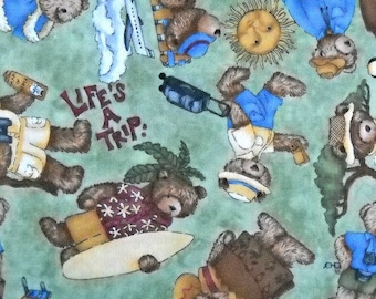 Life's A Trip Quilt Fabric, by Teresa Kogut, for South Sea Imports, 100 Percent Cotton, Fabric by the Yard