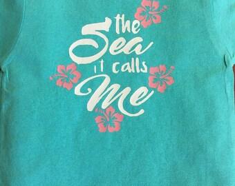 The sea it calls me Moana Tshirt