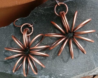 fun and funky copper earrings