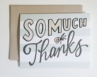 So much thanks - greeting card