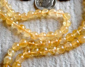 Solar Plexus, Third Chakra, 108 Citrine Mala Beads for Self Esteem, health, Strong Will power, Happiness, Vitality, Desire, Social Identity
