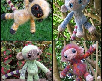 Woolly Monkey Amigurumi Pattern PDF - Crochet Pattern