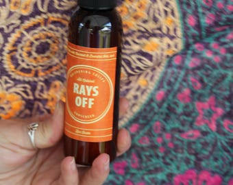 Rays Off All Natural Sunscreen || Summertime || Cruelty Free || Vegan || Gift Idea || Outdoor ||