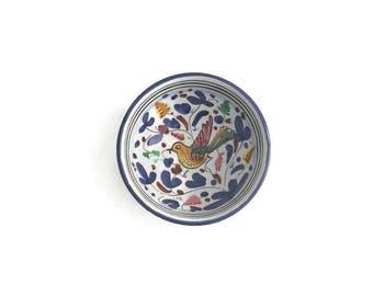 Vintage Sambuco Mario Deruta Hummingbird Small Dipping Sauce Bowl, Hummingbird, Vintage Bowl, Sambuco Mario Deruta, Deruta Italian Pottery