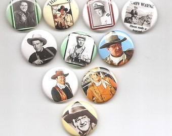John Wayne The Duke Cowboy  10 Pins Button Badge Pinback