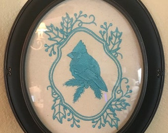 Machine Embroidery Cardinal picture / can be any color you would like