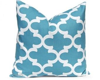 Deep Sky Blue Pillow Covers, Decorative Pillow Cover, Blue Throw Pillow Cover, Blue Cushion Cover, All Sizes Fynn Blue