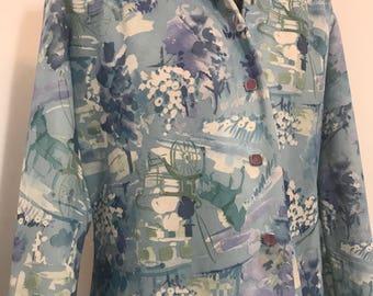 1960s CITY SCENE novelty shirt dress
