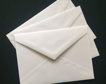 150 white envelopes, size A7, quality 70 lb paper, matte bright white envelopes for your handmade cards or other use, new oversupply, SALE