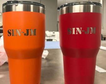 SIN-JM laser etched cup