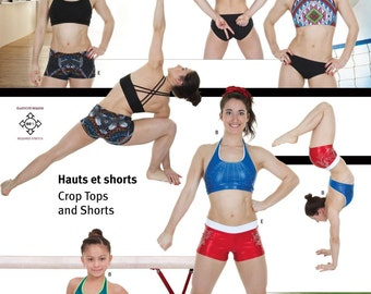 Jalie Crop Tops & Shorts Sewing Pattern # 3247 in 24 Sizes for Women and Girls