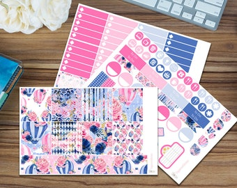 Periwinkle Balloons Horizontal Weekly Kit [95 x Matte] Perfect for your Erin Condren!