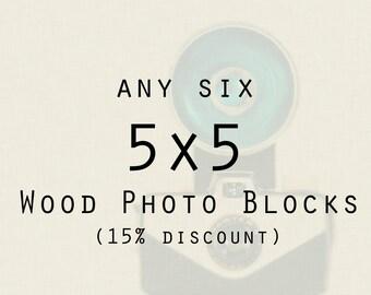 Wood Photo Blocks -  art prints on wood, ready to hang photography, home decor, Chicago, wall art, wood mount,  nature, Paris, kitchen art