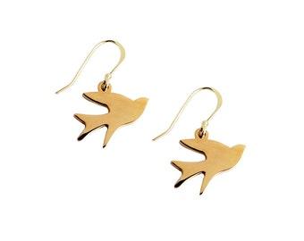 New Beginnings - Bird Pendant Earrings