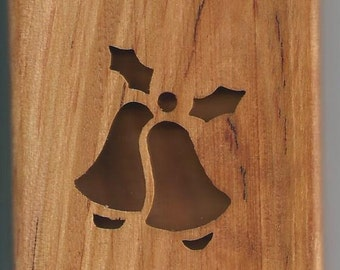 bells and holly giftcard holder