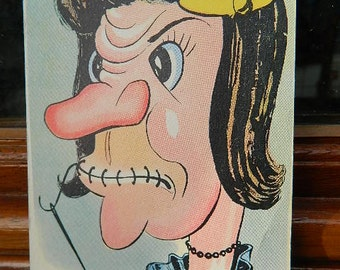 "1960 Vintage French ""Postcard comic"""