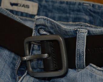 Black Belt, Leather Belt, Mens Leather Accessories, Vintage Belt, Vintage Leather Belt
