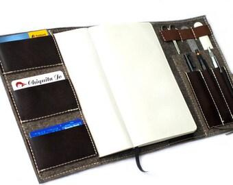 Feutre de laine pour ordinateur portable de calendrier Organisateur & cuir, brun