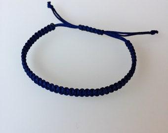 Bracelet in dark blue, macrium