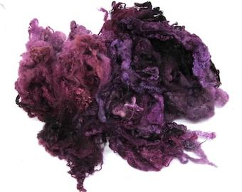Bluefaced Leicester Hand Dyed Fleece 50g Blackcurrant