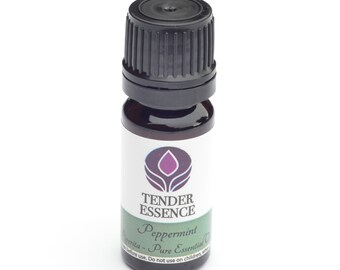 Peppermint Essential Oil. Aromatherapy 10ml Bottle. Mint Aroma