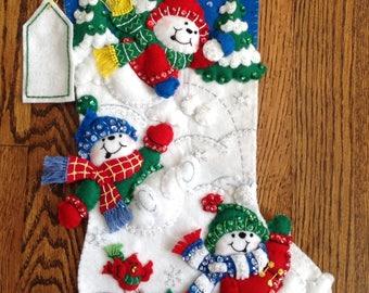 Bucilla Fun in the Snow Christmas Stocking