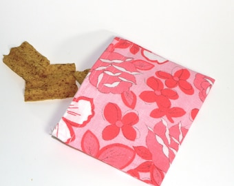 Reusable Snack Size Bag. Recycled Fabrics.