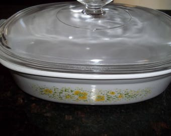 Corning Ware 1 1/2 Quart April Casserole Dish DC-1 1/2-B with lid
