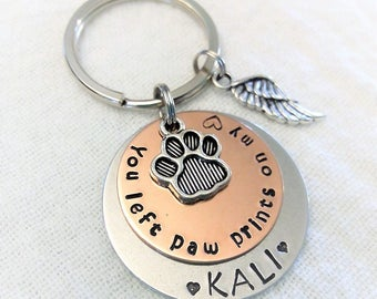 Pet Memorial Keychain,Personalized Memorial Keychain,Pet Remembrance Key Chain,Dog Remembrance Keychain,In Memory of Key Chain,Pet Memorial