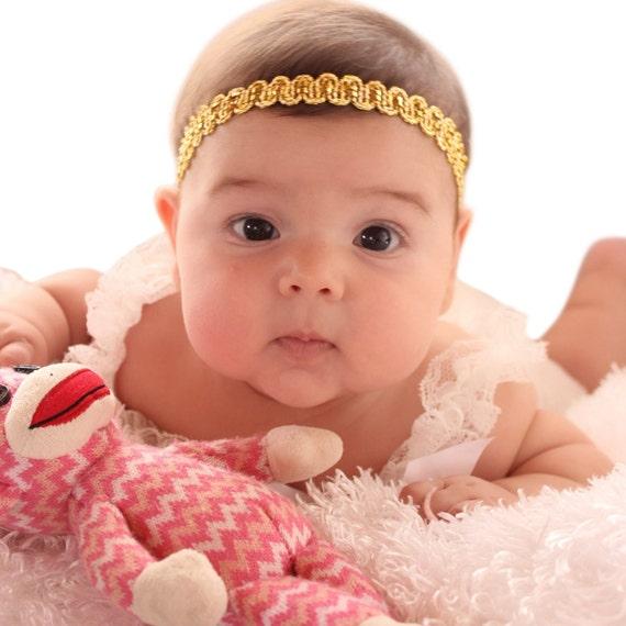 Gold Headband Baby, Gold Headband, Toddler Headband, Infant Headbands, Baby Headband, Baby Headband, Baptism Headband